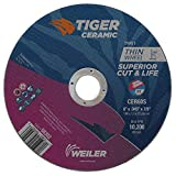 Weiler 58302 6 x .045 Tiger Ceramic Type 1 Cut Off Wheel CER60S 7/8 A.H (Pack of 25)