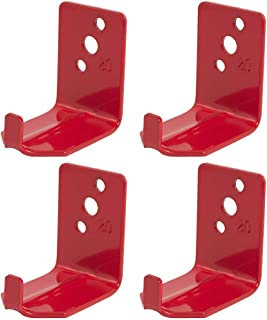 4 - Universal Fire Extinguisher Wall Hook, Mount, Bracket, Hanger for 15 to 20 Lb. Extinguisher with Screws