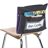 Really Good Stuff Student Book Collection Chair Pockets - Set of 36 - Pocket Chair Organizer Keeps Students Organized and Classrooms Neat