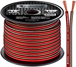 InstallGear 16 Gauge AWG 100ft Speaker Wire 99.9% Oxygen-Free Copper True Spec and Soft Touch Cable - Red/Brown