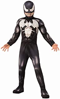 Rubie's Venom Costume Muscle Chest Padded Jumpsuit & Mask Boys Large (10-12) Black