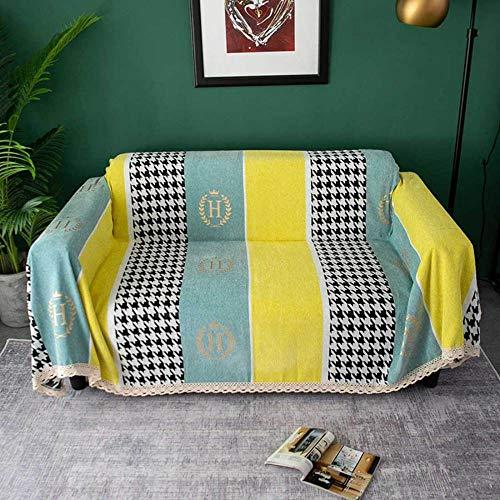 Toalla de sofá de cubierta completa de chenilla gruesa que empalma pata de gallo antideslizante Four Seasons Universal Funda de sofá/E / 180 * 280cm