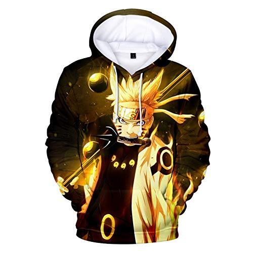 Naruto Uzumaki - Sudadera con capucha para disfraz de anime japons, estilo Harajuku, casual, ligera, con capucha, chaqueta