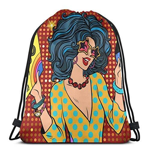 N / A Disco Lady Mochila con cordón Gimnasio Bolsas de Baile...
