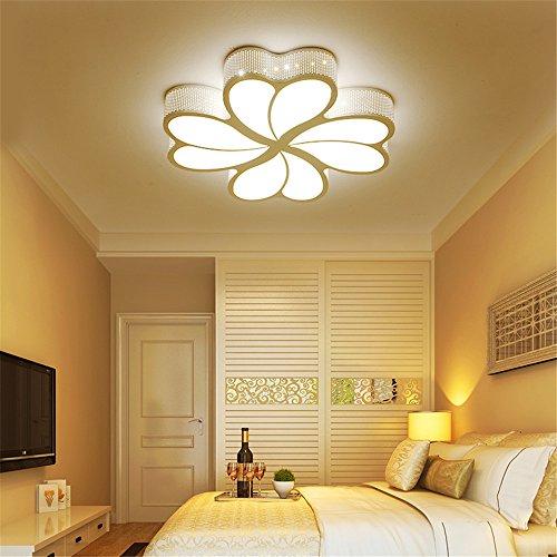 WoOnew Heart-Shaped Chambre Enfants lampe de Salle de Séjour Chambre à coucher moderne simple et créative Accueil Soins Des Yeux, les lampes 50cm
