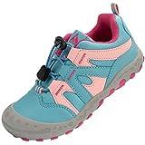 Mishansha Jungenschuhe Kinder Hallenschuhe Trekking- & Wanderhalbschuhe, Sportschuhe mit Atmungsaktiv Outdoor Walkingschuhe Pink Blau, Gr.33 EU