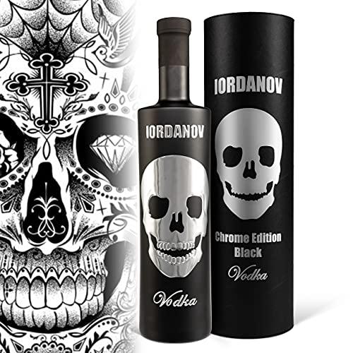 Prime Presents Vodka Iordanov | Black-Edition Chrom-Skull | (0.7 l) - Der Edel-Vodka zum Genießen, Verschenken und sich selber schenken! Experte, Genießer
