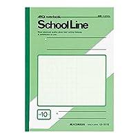 アピカ スクールライン学習帳 セミB5 10mm方眼罫 LS10-1G 緑 1包(10冊)