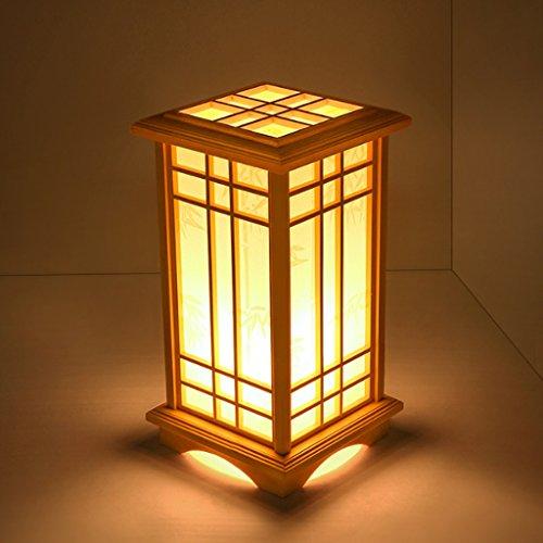 TangMengYun Japanischen Stil Kreative Kiefer Tischlampe, warme Schlafzimmer Nachttischlampe Stehlampe, Wohnzimmer Arbeitszimmer Schreibtisch lampe Tischlampe