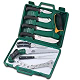 Outdoor Edge Game Processor Hunting Knives, Complete 12-Piece Deer...
