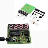 BliliDIY Kit De Reloj Mcu De Reloj Digital De Cuatro bits Multifunción DIY De 3 Piezas