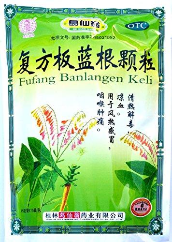 Banlangen TEA , Fufang Banlangen Keli , 15 Individual Sachets - 6 Pak