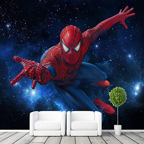 Benutzerdefinierte Stereo-Tv Hintergrund Schlafzimmer Wandtapete Bar Tapete Ktv Thema Box Spiderman Fototapete Kinderzimmer Hintergrundwand 200 * 140Cm