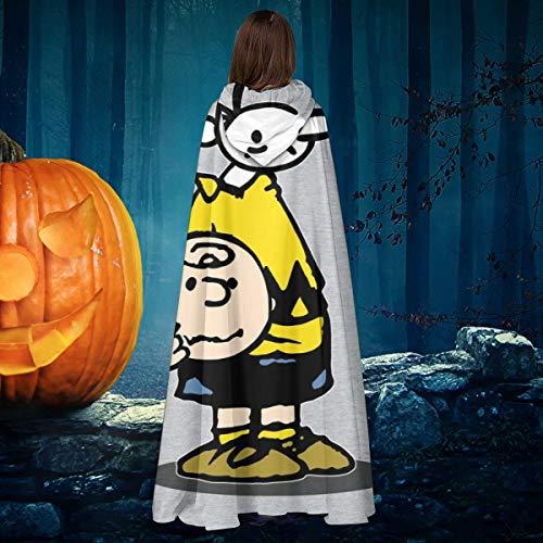 AISFGBJ Wimpy Chuck Charlie Brown Cacahuetes para nios, Unisex, para Navidad, Halloween, Bruja, Caballero, con Capucha, Bata de Vampiros, Capa para Disfraz de Cosplay