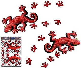 赤いヤモリ動物ツインパックビニール窓バンパーデカールステッカー車トラックキャラバンラップトップ自転車電話-ST00032RD_3-JASステッカー