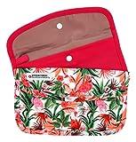 Cussi - Pack de 2 MaskCase, estuches de tela rectangulares para guardar mascarillas (FLAMENCO, FUCSIA)