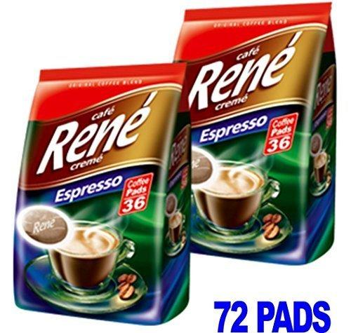 Philips Senseo 72 x Cafe Rene Cremé Espresso Geröstet Kaffee Kissen Schoten Taschen