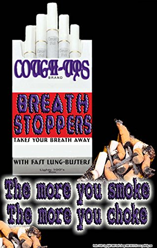#160 Graphic Don't Smoke Poster for Teens, Tobacco Prevention Poster