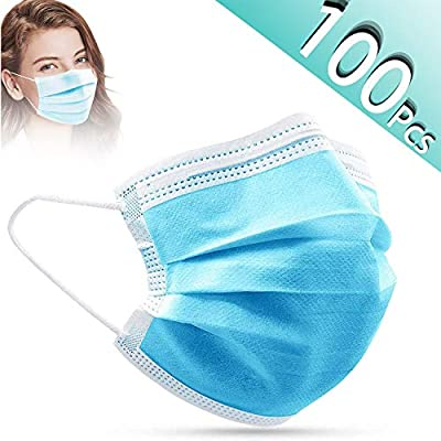 SKYLMW Anti-Dust Face Covers,3 Layer Cover 100 Pcs
