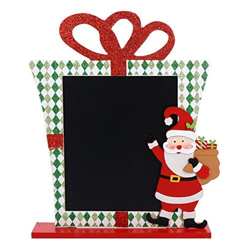 BESPORTBLE Mini Letreros de Pizarra de Mesa de Navidad Nota de Santa Claus Memo Tarjetas de Lugar de Pizarra Escribiendo Tablero de Mensajes para Bodas Fiestas de Cumpleaños Decoraciones de