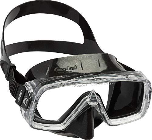 Cressi Sirena Black Gafas de Snorkeling, Unisex-Adulto, Negro, Talla única