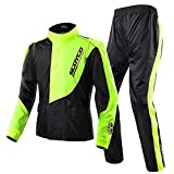 Scoyco RC01 Motorcycle Racing Waterproof Jacket Pants Set Rain Suit...