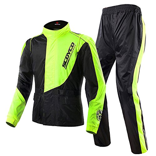 Scoyco RC01 Motorcycle Racing Waterproof Jacket Pants Set Rain Suit (M)