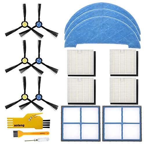 Kit de accesorios para el robot aspirador Ilife V8S V8S X750 X785 V80 Paquete de piezas de repuesto del filtro primario, filtro Hepa, cepillo lateral y trapeador