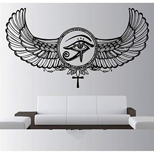 Pegatinas de Egipto, pegatinas de arte de Dios egipcio, plumas de ojos, faraón, pirámides egipcias, póster Mural, pegatinas de pared A8 75x42cm