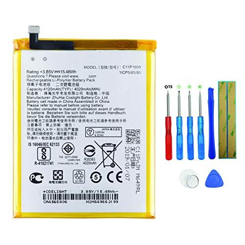 swark batería C11P1609 para ASUS ZenFone 4 Max, ZenFone 3 Max, ZC520KL,ZC553KL con herramientas