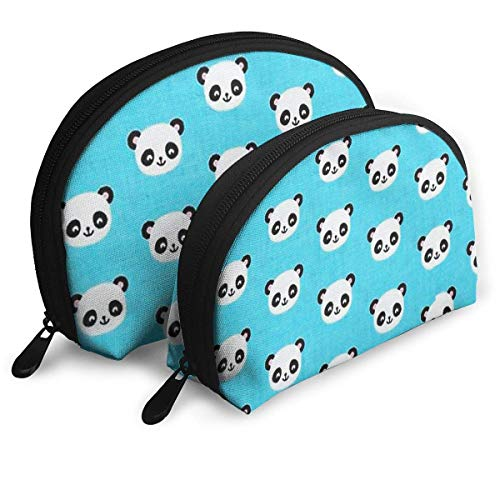 Make-Up Bag Cute Panda Icon Travel Makeup Pencil Pen Case Multifunction Storage Portable - 2 Piece Set