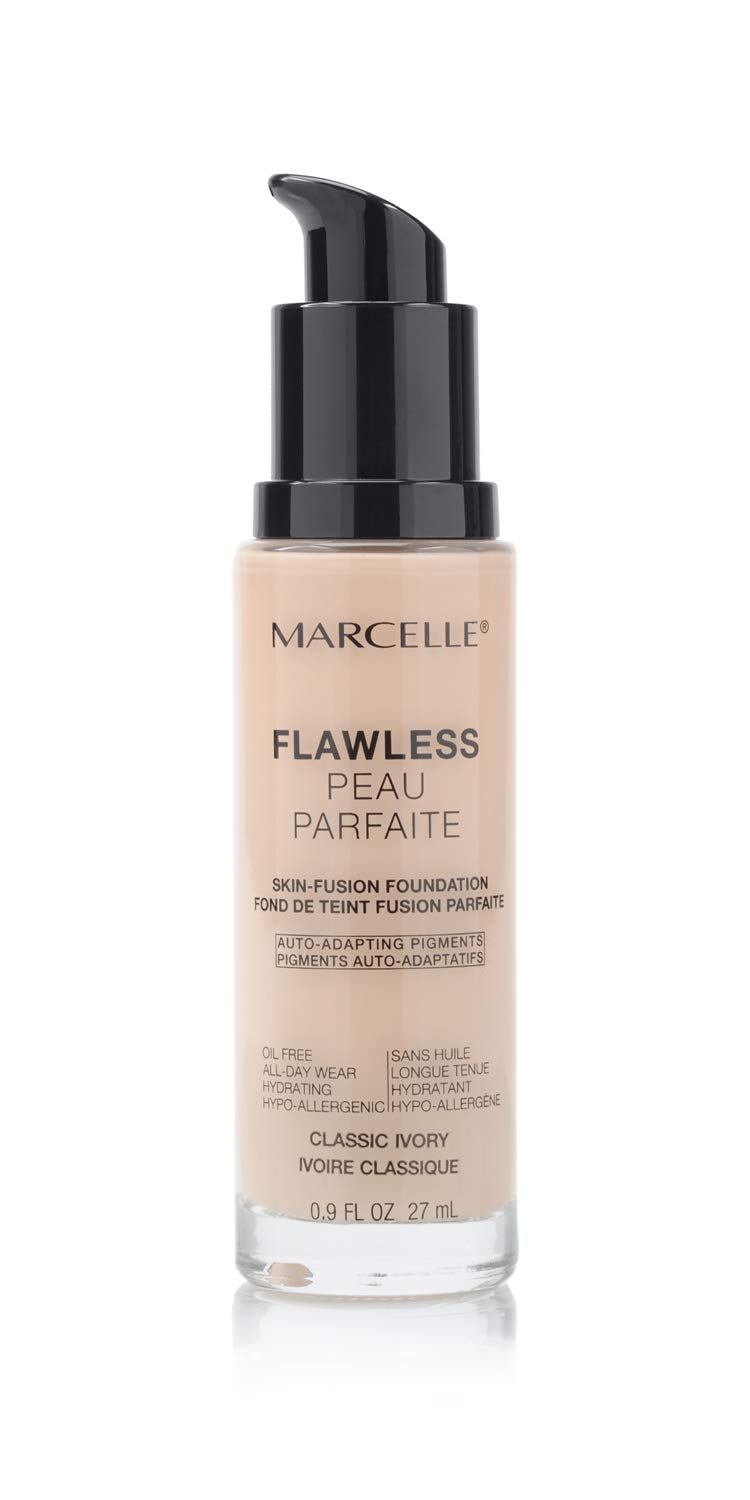 Marcelle Flawless Foundation, Classic Ivory, Hypoallergenic and Fragrance-Free, 0.91 fl oz