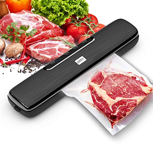 Vacuum Sealer Machine, HITOS Automatic Food Saver System with Dry | Wet | Point | External | Seal Five Food Preservation Modes, to Extend the Freshness of Food