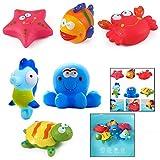 LHKJ Animales flotantes para el baño para niños bebés - Peces, Estrellas de...