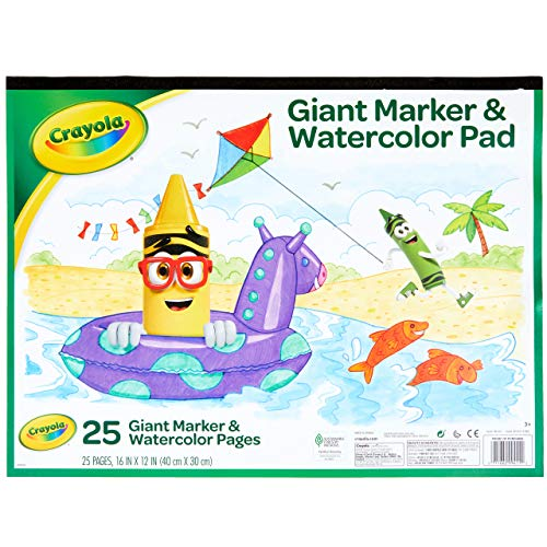 Crayola Giant Marker and Watercolor Pad, Kids Art Supplies, Gift
