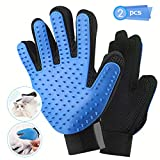 Hapord Pet Grooming Glove[Upgraded Version] Grooming Tool + Furniture Pet Hair Remover Mitt - For Cat & Dog - Long & Short Fur Efficient Pet Hair Remover Glove -(Two Pack)