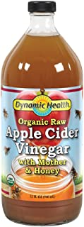 Dynamic Health Organic Raw Apple Cider Vinegar with Mother & Honey | Vegetarian, Non-GMO, No Gluten or Artificial Flavors ...