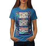 Wellcoda Cassette Chanson Ruban La Musique Femme T-Shirt Vieux T-Shirt imprimé de Style décontracté