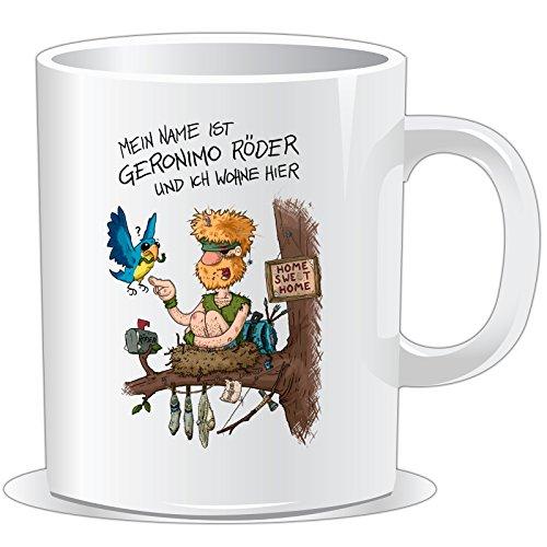 getshirts - Rocket Beans TV Official Merchandising - Tasse - Pen & Paper - Ich Bin Geronimo Röder - Uni Uni