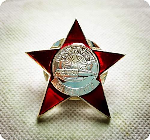 WLTY Insignia URSS Orden de la Estrella Roja Premio Medalla de la Segunda Guerra Mundial Rusa Raro