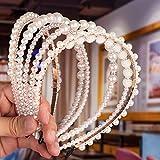 Diadema de perlas sintéticas, Comius Sharp 6 piezas perlas blancas accesorios,accesorio para el pelo de boda, para mujer, novia, boda, elegante, hecho a mano para cumpleaños, día de San Valentín.