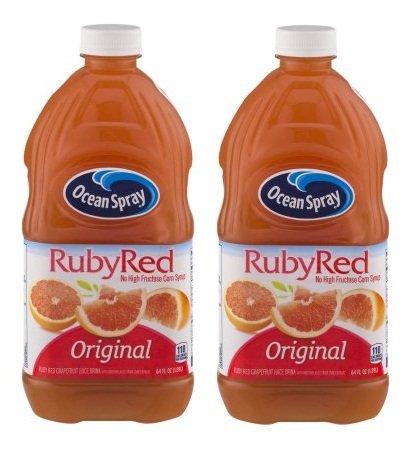Ocean Spray Fruit Juice, Ruby Red Grapefruit, 64 Fl Oz, 1 Count (2)