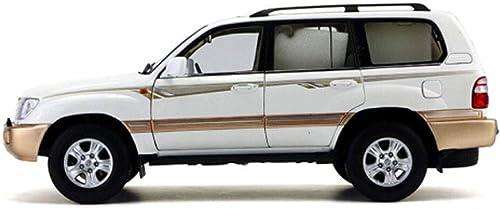 opciones a bajo precio KaKaDz Wei KKD Escala Modelo Simulación Simulación Simulación Vehículo 1 18 Toyota Land Cruiser 4700 LC100 Modelo de Coche de Simulación Aleación Modelo de Coche Toyota Colección de Decoración Adulta ( Color   blanco )  ventas en linea