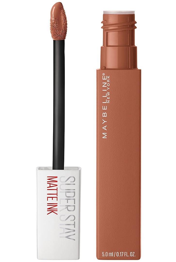 共同選択パイプラインジャズMaybelline New York Super Stay Matte Ink Liquid Lipstick,75 Fighter, 5ml