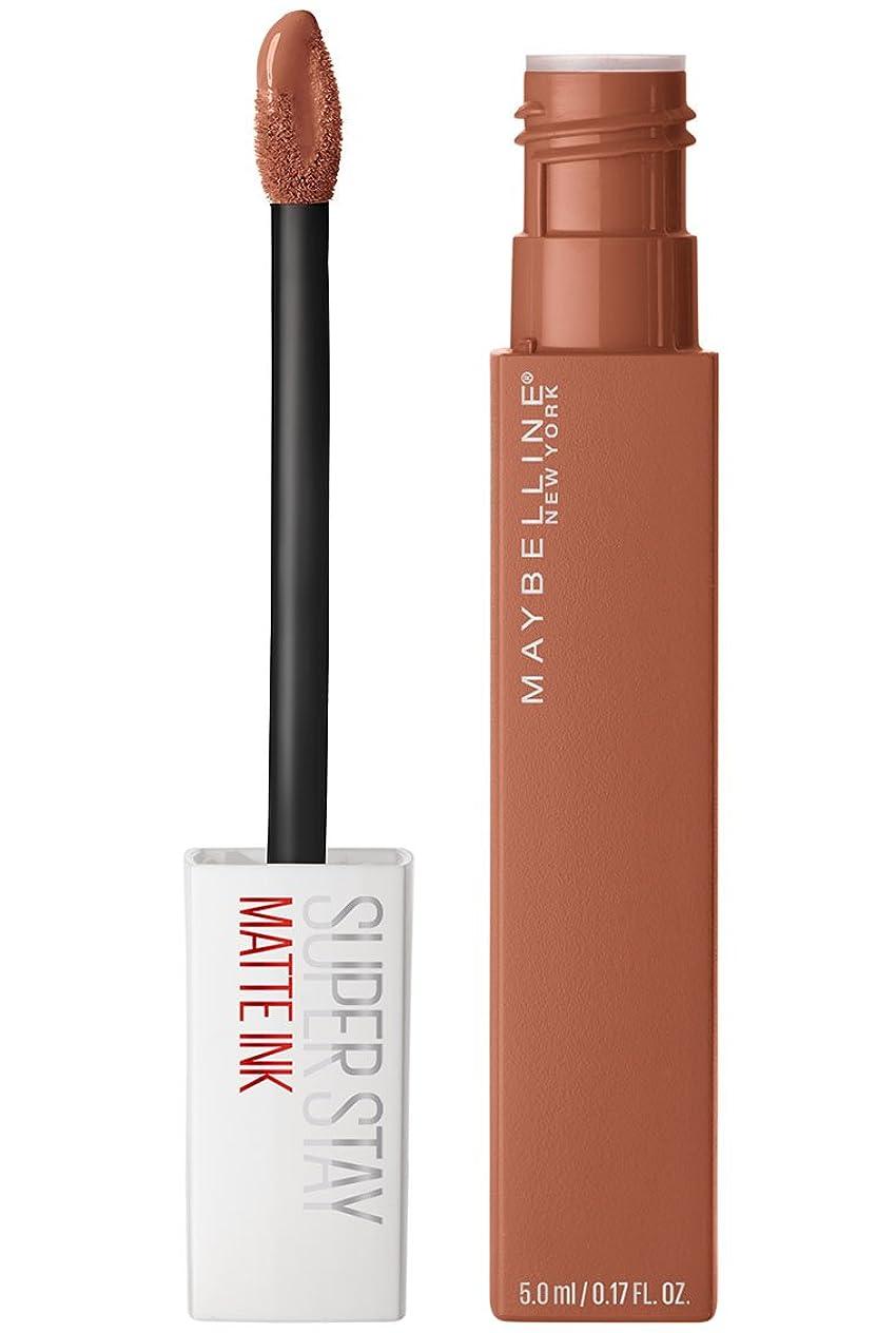 孤独な魅惑するペルーMaybelline New York Super Stay Matte Ink Liquid Lipstick,75 Fighter, 5ml