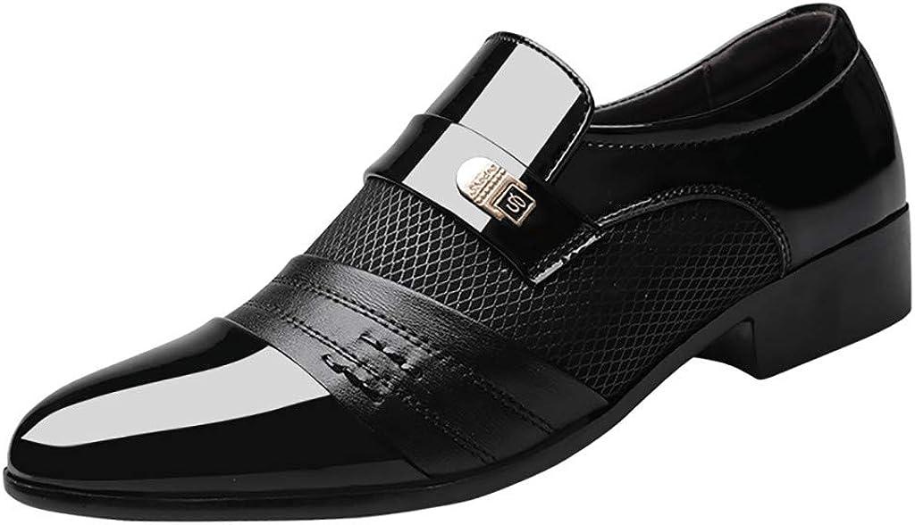 Toamen Zapatos de Negocios Zapatos de Cuero de Negocios para Hombres Zapatos cómodos de Boda para Hombre Zapatos de Traje Masculino