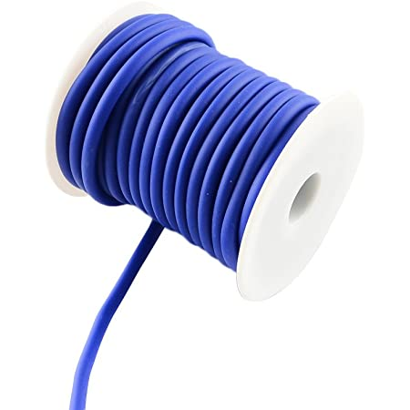 About 10m White Silicone Hollow Cord Rubber Thread 5mm for Bracelet Necklace Making with 3mm Hole Pandahall 1 Roll
