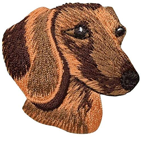 Original Design Patches Cool Patches Dachshund Applique Patch - Wiener Dog, Puppy Badge 1-7/8' (Iron on) Fashion Drawings