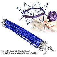 ワインダーホルダー、ハンガブルスウィフトメタルヤーンワインダー傘、解体用調節可能な家庭用アクセサリー編み編みツール