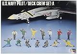 Hasegawa HAS 36006 - Maqueta de U. S. Navy Pilot con tripulación de Tierra
